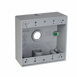 TayMac Metal Rectangular 2-GANG Outlet Boxes