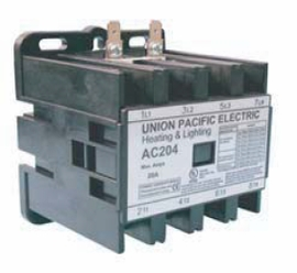Union Pacific Electric AC204-240 20A 4P 240V Lighting & Heating Contactor