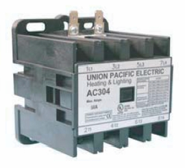 Union Pacific Electric AC304-120 30A 4P 120V Lighting & Heating Contactor