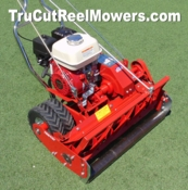 "27"" 7-Blade Mower with SLOW-SPEED TRANSMISSION,  Industrial-Series Honda Engine and Factory-Installed Front Reel Roller"