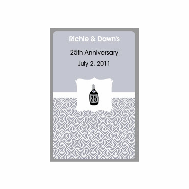 25th Anniversary Wedding Favors Playing Cards