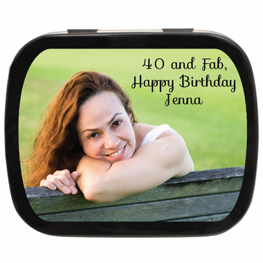 40th Birthday Party Favors Photo Tin