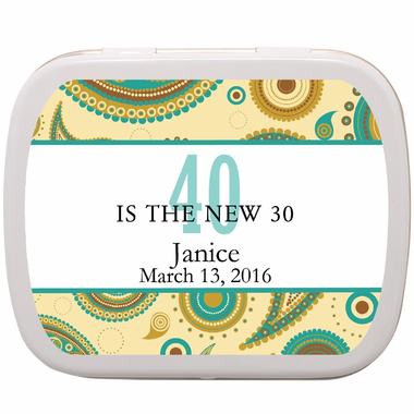 "40th Birthday Party Favors - ""The New 30""  Mints"