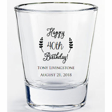 40th Birthday Shot Glasses