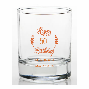 50 Birthday Favors Shot Glass