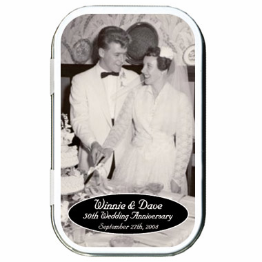 50th Anniversary Favors Photo Mint Tins