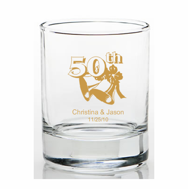 50th Anniversary Favors Shot Glasses