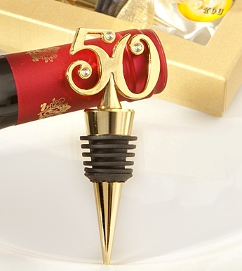 50th Birthday Party Favors Wine Stopper