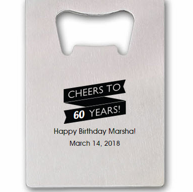 60th Birthday Bottle Openers
