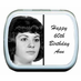 60th Birthday Party Favors Photo Mint Tins