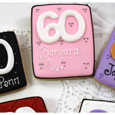 60th Party Favors Cookie