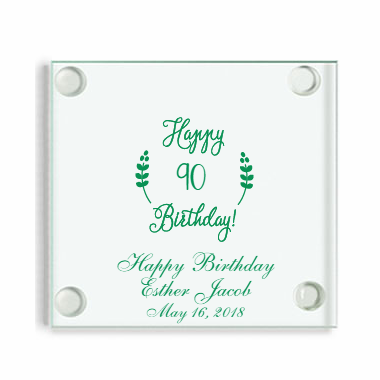 90th Birthday Coasters