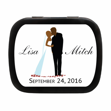 African American Wedding Favors Mint Tins