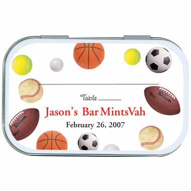 All Sports Place Card Holder Mint Tins