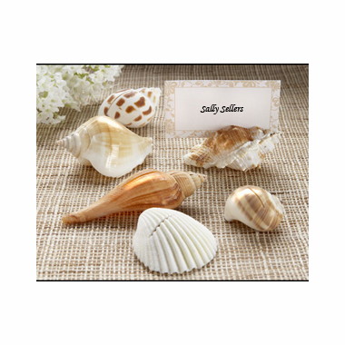 Authentic Shell Placecard Holders - Beach Wedding Favor