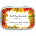Autumn Leaves Personalized Place Card Mint Tins