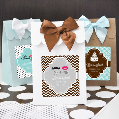 Bag Favor Candy Boxes - Set of 12