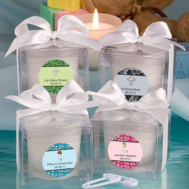 Baptism Candles Personalized Label