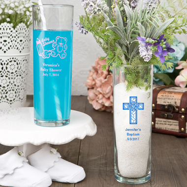 Baptism Decorations Bud Vases