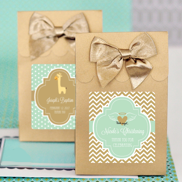 Baptism Favor Bags Candy Boxes Set Of 12