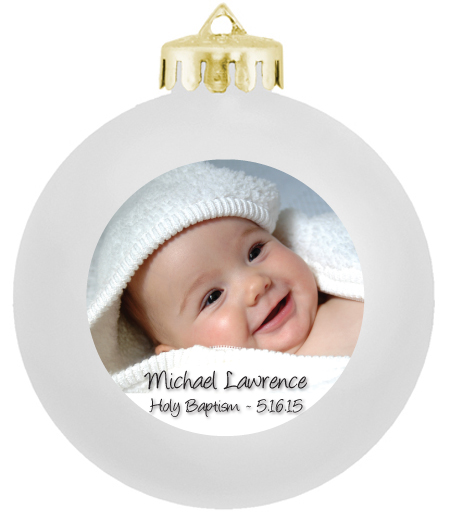 Baptism Ornament Personalized Christmas Ornament Christening: Baptism Giveaways, Photo Ornaments