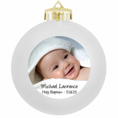 Baptism Giveaways Photo Ornaments