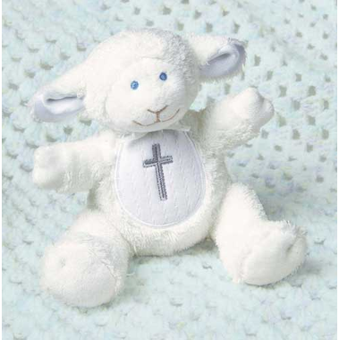 Baptism Lamb Stuffed Animal - 5 inches