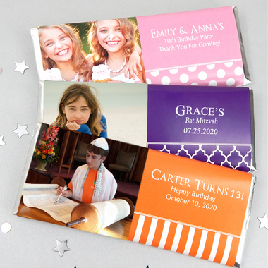 Bar Mitzvah Photo Chocolate Bar