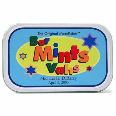 Bar Mitzvah Giveaways Candy Tins