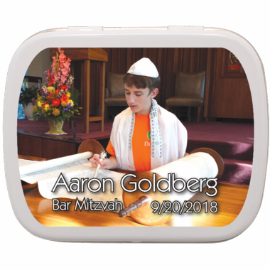 Bar Mitzvah Photo Mint Tin Favors