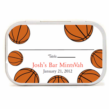 Basketball Place Cards Favors Mint Tins
