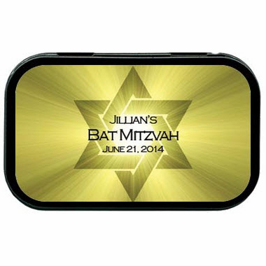 Bat Mitzvah Favor Mint Tin Star of David