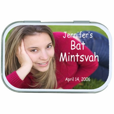 Bat Mitzvah Party Favors Photo Mint Tins