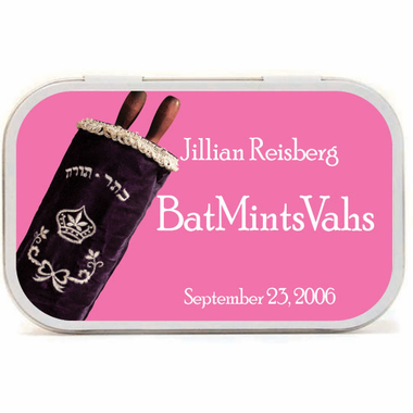 Bat Mitzvah Party Supplies Custom Mints