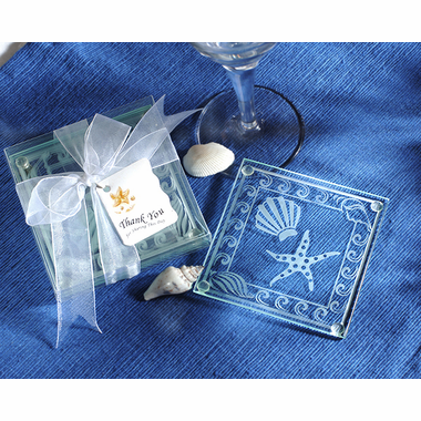 Beach Glass Coaster Favor