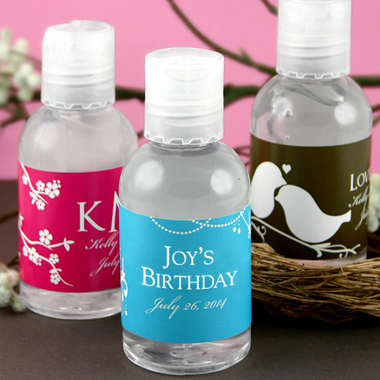 Birthday Personalized Hand Sanitizers