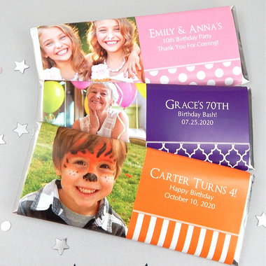 Birthday Photo Candy Bars