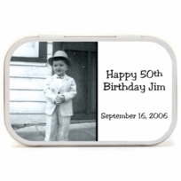 Birthday Photo Favors Mint Tins