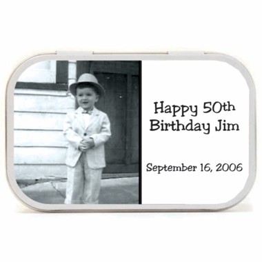 Birthday Photo Mint Tins