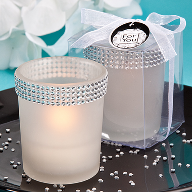 Bling White Candles