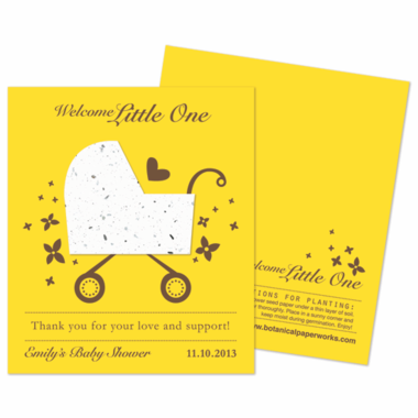 Blooming Baby Carriage Wildflower Favor