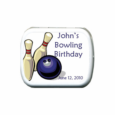 Bowling Party Favors Mint Tins