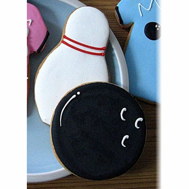 Bowling Pin and Ball Cookies
