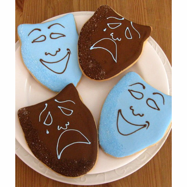 Broadway Theme Comedy Tragedy Mask Cookies
