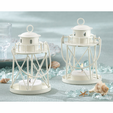 """By The Sea"" Lighthouse Favors - Tea Light Holder"