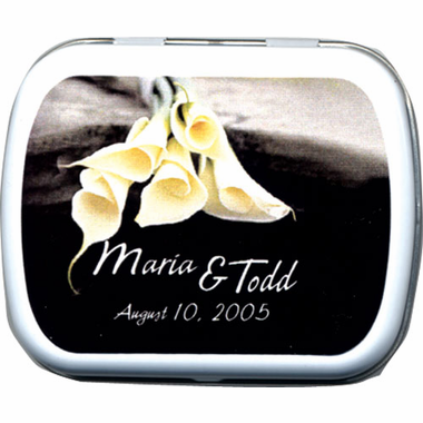 Calla Lily Mint Tin Wedding Favor