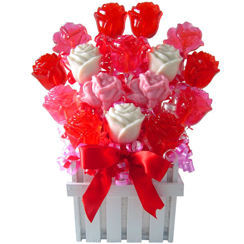 Candy rose flower bouquet