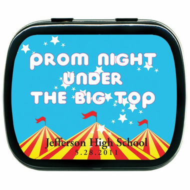 Carnival Prom Party Favors Personalized Tins