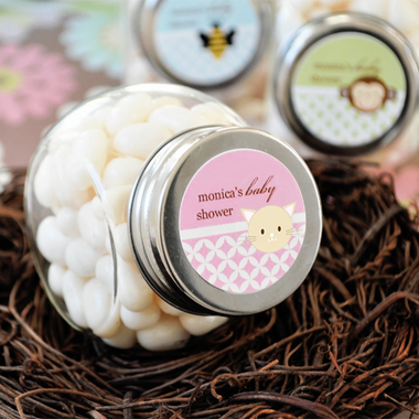 Cat Baby Shower Favor Jar