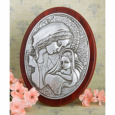 Catholic Favors Madonna & Child Plaque